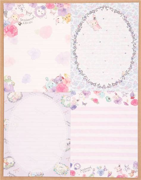 Letter Paper Set japanese sentimental circus animals garden letter