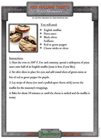 Free Printable Halloween Recipes | free printable halloween recipes inspired by disney s