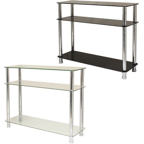 bedroom console table glass 3 tier side console table shelf unit bedroom lounge