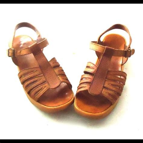 Wedges Vintage Leather 60 vintage shoes vintage platform wedge sandals