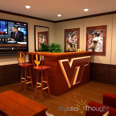 virginia tech hokie room 3d vizualization - Virginia Tech Room