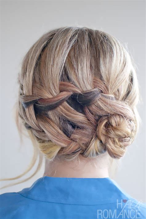 updo braid hairstyles pictures double waterfall braid updo hairstyle romantic
