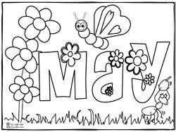 flowers of the month coloring pages learning songs theme printable coloring pages