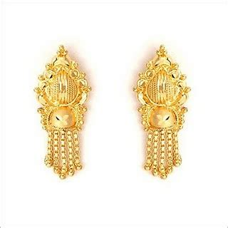 fashion  life style indian gold earrings