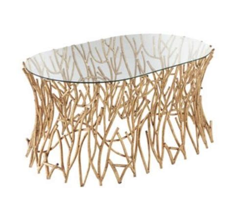 Gold Branches Oval Twig Coffee Table Iron Cocktail Tree Branch Coffee Table