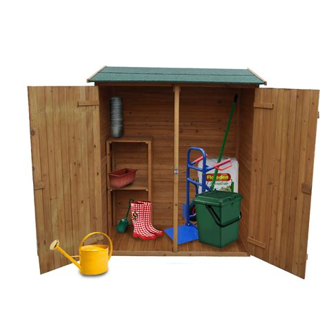 garden shed storage wooden tool cabinet weatherproof box