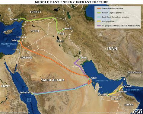 middle east map strait of hormuz new abu dhabi pipeline provides alternative to hormuz