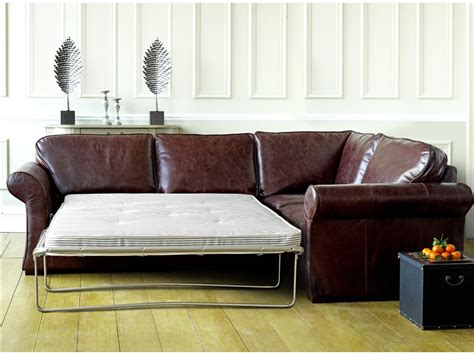 Brown Leather Corner Sofa Bed 301 Moved Permanently
