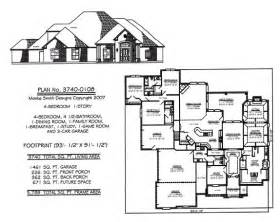 four bedroom house plans one story 4 bedroom house plans one story studio design