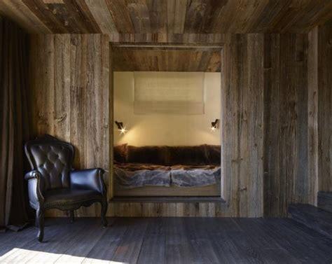 bed built into wall a wabi sabi ski chalet in aspen colorado rustic modern