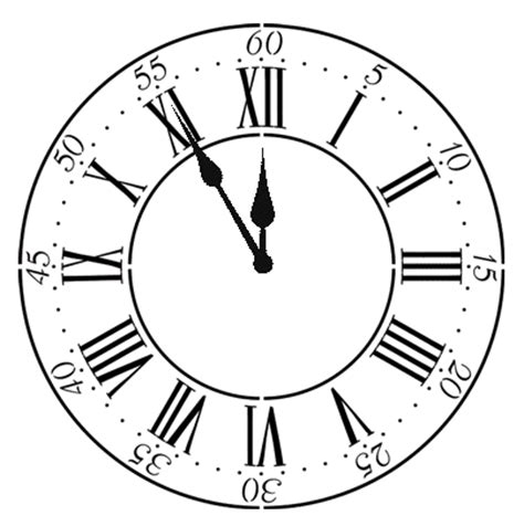 roman clock stencil walltowallstencilscom