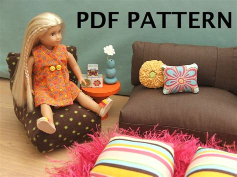 american girl doll couch pdf diy 18 inch doll furniture patterns download how to