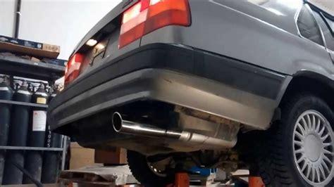 volvo  turbo   mandrel bent exhaust  thrush muffler youtube