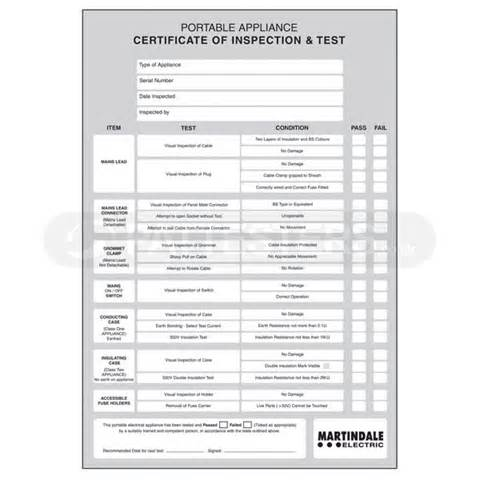 portable appliance testing certificate template 17 portable appliance testing certificate template pat