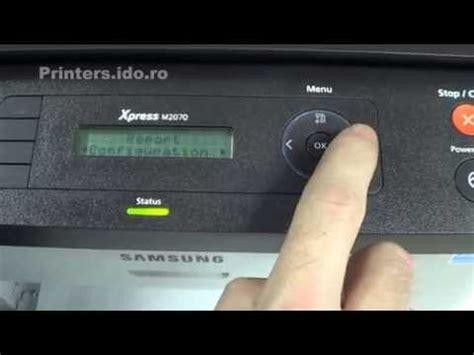 reset samsung xpress m2070f how to reset a samsung xpress m2070 2070f 2070fw printer