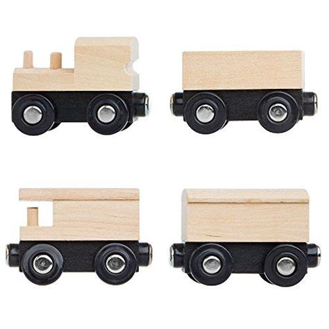 chuggington brio unpainted wooden train cars compatible with thomas