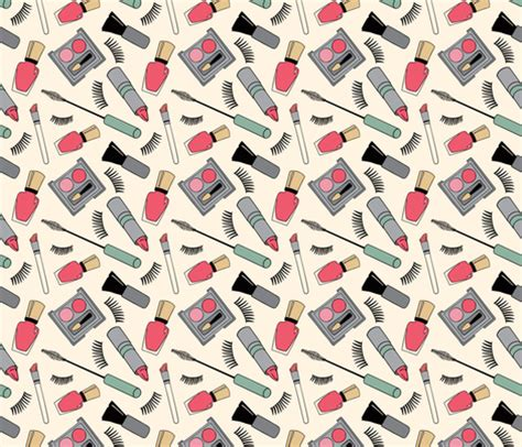 makeup pattern wallpaper makeup fabric coleheart spoonflower