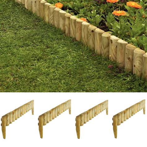 wooden  garden border fence edging  pack pure garden