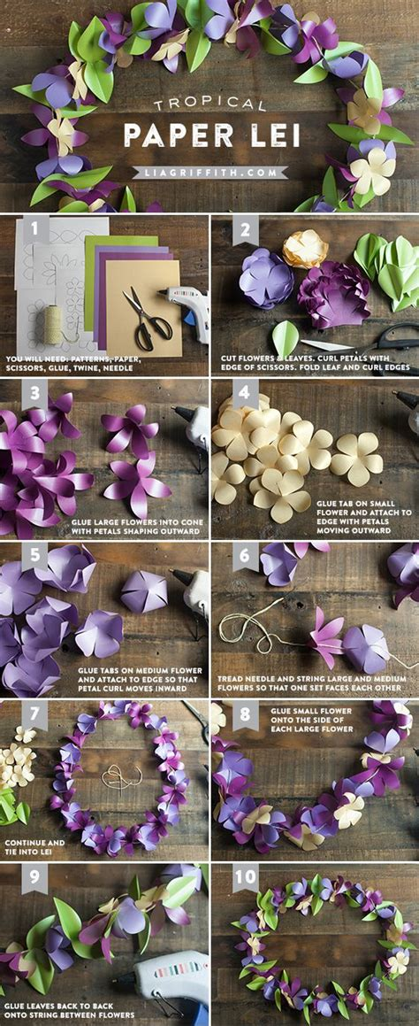 How To Make Paper Flower Leis - flower leis and paper flowers on