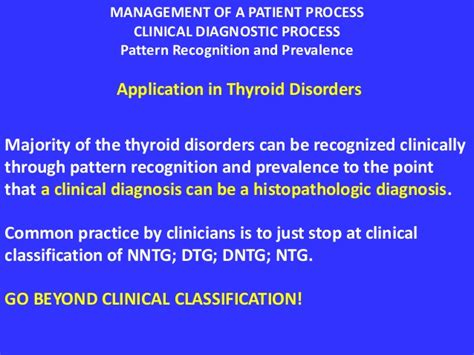 pattern recognition of patient symptoms application of the management process in thyroid nodules