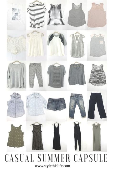 summer capsule wardrobe wardrobes home and casual summer on pinterest