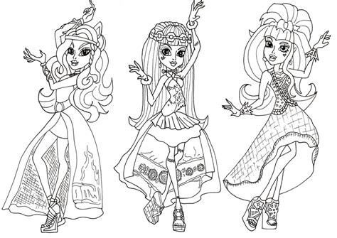 free printable monster high coloring pages june 2013