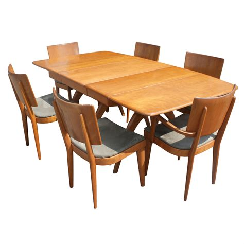 heywood wakefield dining room table 76 034 heywood wakefield pedestal dining table ebay
