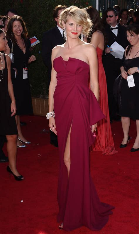 The Carpet Looks At The 2007 Emmy Awards by Heidi Klum 2007 Emmy Awards The Most Gorgeous Emmy