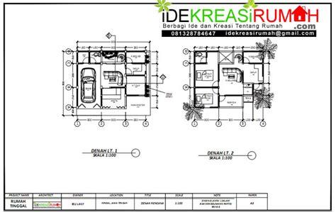gambar kerja rumah  lantai  ruang usaha ide kreasi rumah