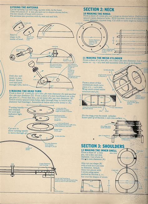 design blueprints 1973 radio times dalek plans scottbouch