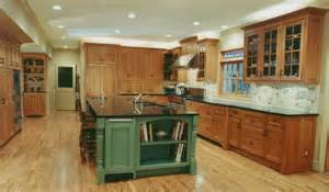 Green Kitchen Islands by Trillium Cabinet Company