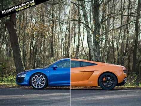 Lamborghini Gallardo Vs Audi R8 Lamborghini Gallardo Vs Audi R8 V10 Blood Bros Pistonheads