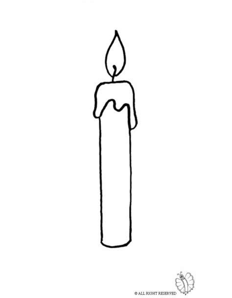 candele da colorare sta disegno di candela accesa da colorare