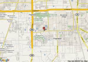 map pearland map of la quinta inn and suites pearland pearland