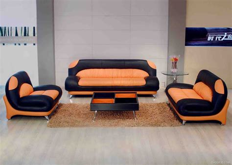 Orange And Black Sofa by Classical Orange And Black Leather Sectional Sofa