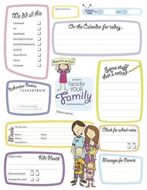 nanny notes template be a stand out nanny by filling out this form outlining what you did with the children while