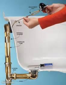 Bathtub Plumbing Overflow Drain Unclog A Bathtub Drain Without Chemicals The Family Handyman