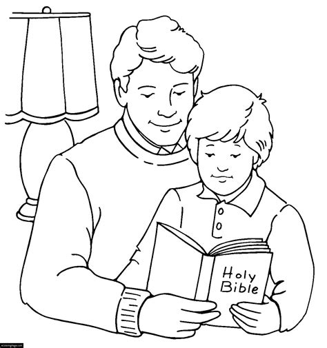 free coloring pages of happy happy father