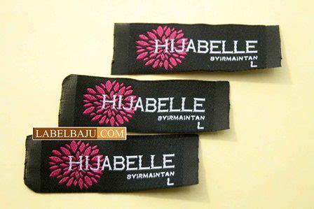 design label murah label baju rajut woven damask satin printing label baju
