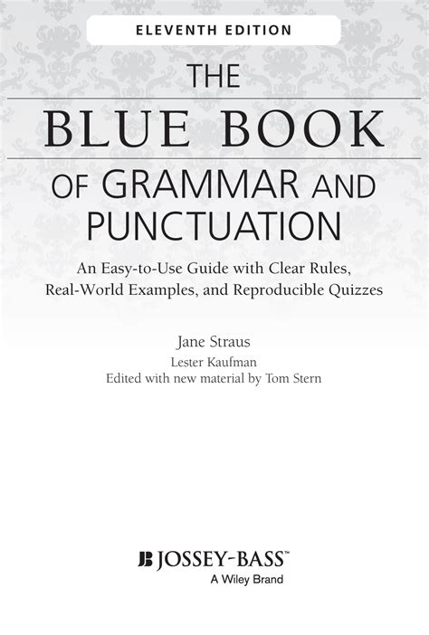 The Blue Book Of Grammar And Punctuation 11th Edition Ebook E Book title page the blue book of grammar and punctuation an