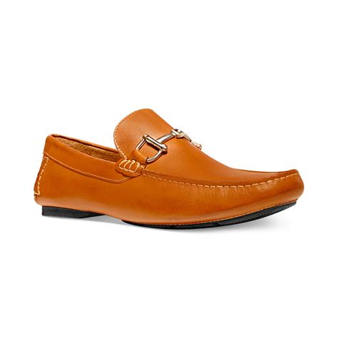 steve madden brown loafers steve madden banker loafers in brown for cognac lyst