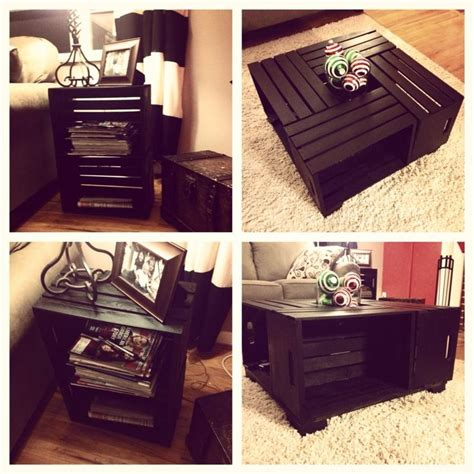 wine crate coffee table and end table wine crates from