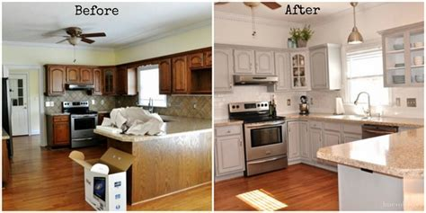 Kitchen Makeovers With Cabinets Chalk Paint Kitchen Cabinets Creative Kitchen Makeover Ideas
