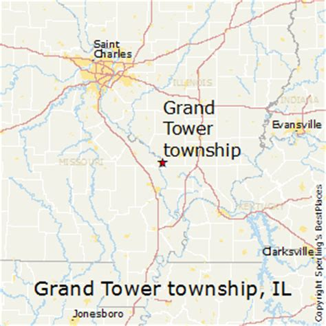 grand il map best places to live in grand tower township illinois