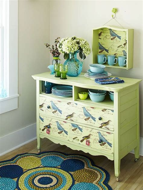 Diy Decoupage Dresser - 39 furniture decoupage ideas give things a second