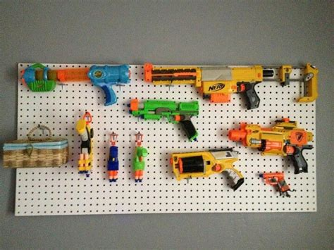 Pegboard Gun Rack by Gun Rack Made This For Nephew The