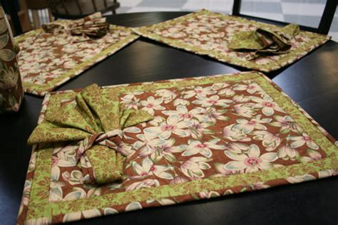 Free Easy Quilted Placemat Patterns by Quilted Placemats And Napkins Patterns Free Quilt Pattern