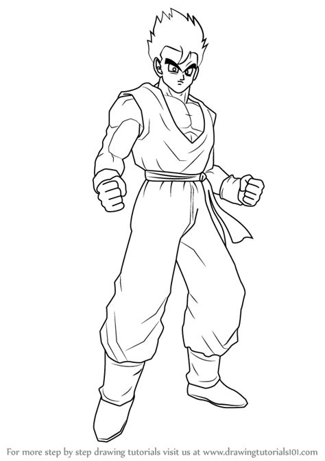 full body dbz coloring coloring pages