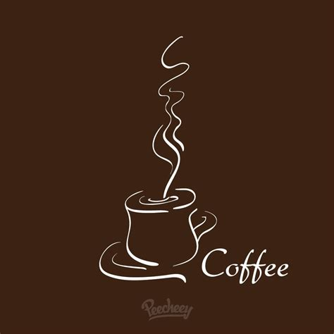 wallpaper coffee vector hot coffee cafeteria background vector download