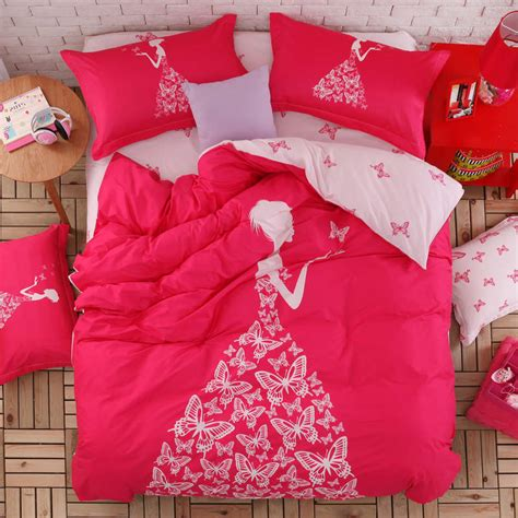 twin size comforter for girls pink color girls bedding set 4pcs or 3pcs for queen twin